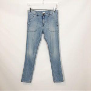 Aquaverde Pierce High Rise Ankle Jeans 24
